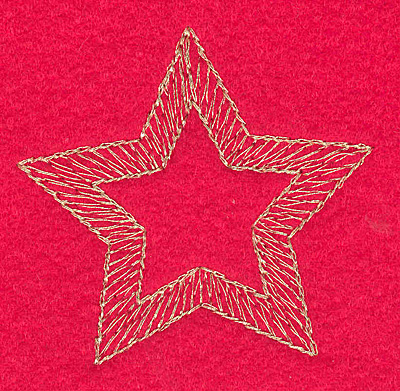 Embroidery Design: Star medium2.48w X 2.36h