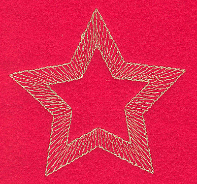 Embroidery Design: Star large3.23w X 3.06h