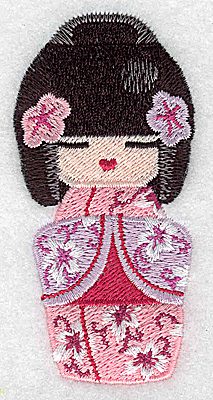 Embroidery Design: Kokeshi Doll 1 1.68w X 3.49h