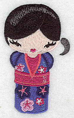 Embroidery Design: Kokeshi Doll 2 2.09w X 3.48h