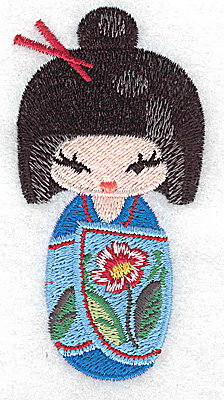 Embroidery Design: Kokeshi Doll 3 1.79w X 3.52h