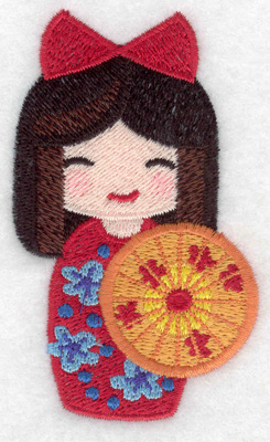 Embroidery Design: Kokeshi Doll 4 2.10w X 3.51h