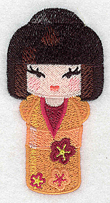 Embroidery Design: Kokeshi Doll 5 1.81w X 3.49h