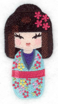 Embroidery Design: Kokeshi Doll 6 1.81w X 3.50h