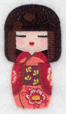 Embroidery Design: Kokeshi Doll 7 1.89w X 3.47h