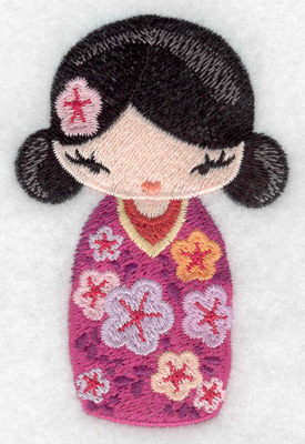 Embroidery Design: Kokeshi Doll 8 2.36w X 3.50h