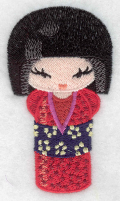 Embroidery Design: Kokeshi Doll 9 1.97w X 3.49h