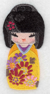 Embroidery Design: Kokeshi Doll 10 1.67w X 3.50h