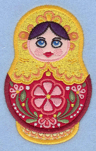 Embroidery Design: Matryoshka Doll A Appliques small2.49w X 3.90h