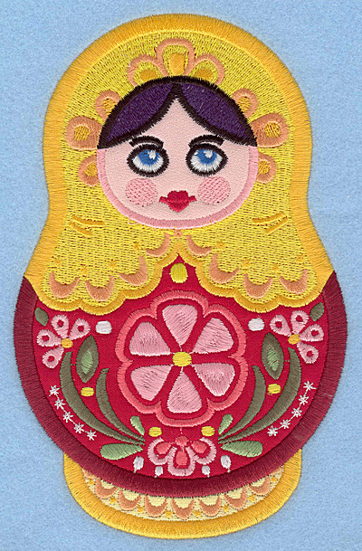 Embroidery Design: Matryoshka Doll A Appliques large4.47w X 7.00h