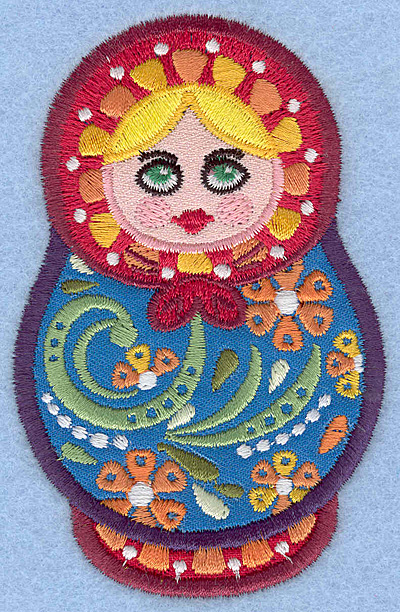 Embroidery Design: Matryoshka Doll D Appliques small2.49w X 3.90h