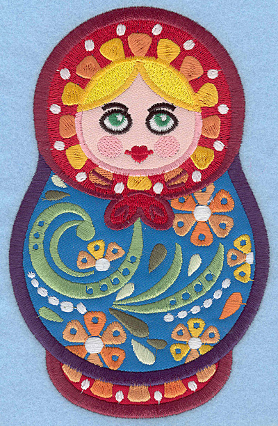 Embroidery Design: Matryoshka Doll D Appliques large 4.47w X 7.00h