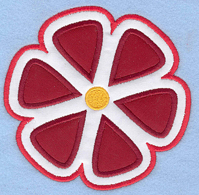 Embroidery Design: Double Applique flower4.83w X 4.80h