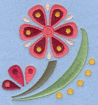 Embroidery Design: Flower A small2.90w X 3.00h