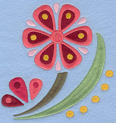 Embroidery Design: Flower A large5.00w X 5.18h