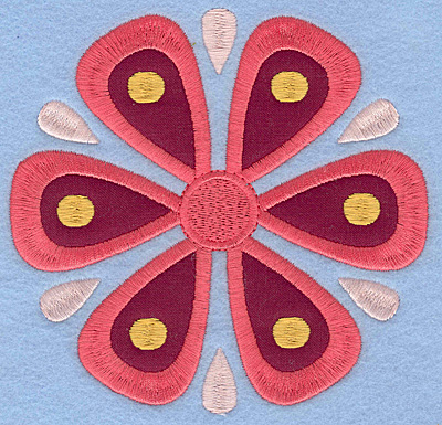 Embroidery Design: Flower B Single applique large5.19w X 5.00h