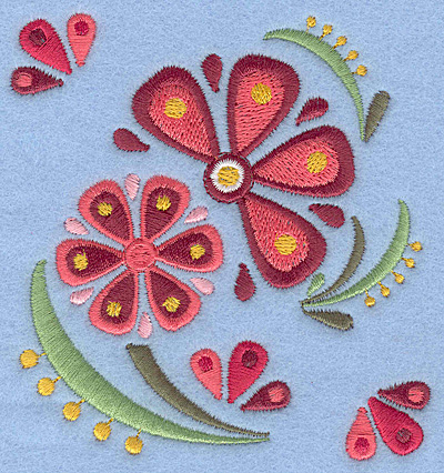 Embroidery Design: Flower C small3.75w X 3.90h
