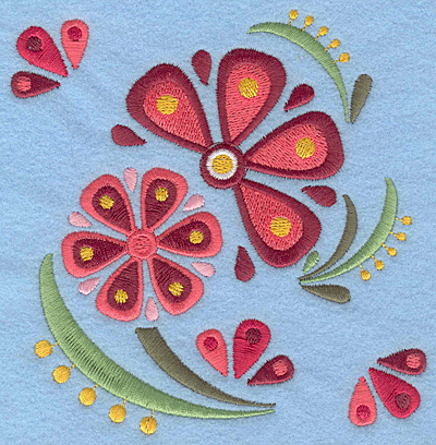 Embroidery Design: Flower C large5.00w X 5.18h