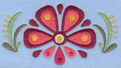 Embroidery Design: Flower D small3.90w X 2.13h