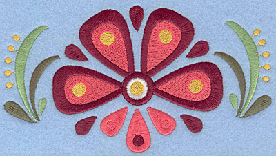 Embroidery Design: Flower D large7.00w X 3.83h
