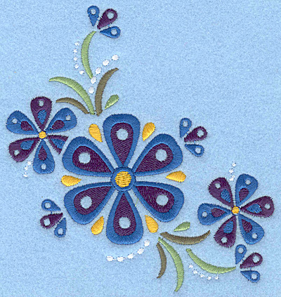 Embroidery Design: Flower E large5.00w X 5.42h
