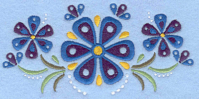 Embroidery Design: Flower F small5.00w X 2.43h