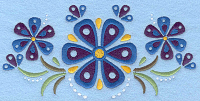 Embroidery Design: Flower F large7.00w X 3.40h