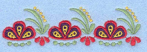 Embroidery Design: Flower G small3.53w X 1.02h