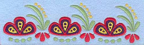 Embroidery Design: Flower G large 6.35w X 1.84h
