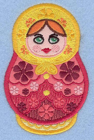 "Embroidery Design: Matryoshka Applique Doll A small 2.49""w X 3.90""h"