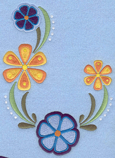 "Embroidery Design: Floral Combo A large 5.00""w X 6.80""h"