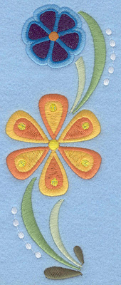 "Embroidery Design: Floral Combo B large 2.84""w X 7.00""h"