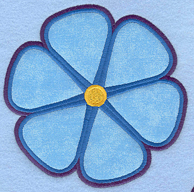 "Embroidery Design: Flower applique large 5.00""w X 5.00""h"