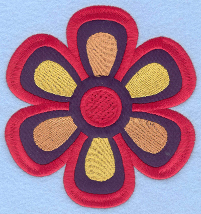 "Embroidery Design: Applique Flower large 5.00""w X 5.32""h"
