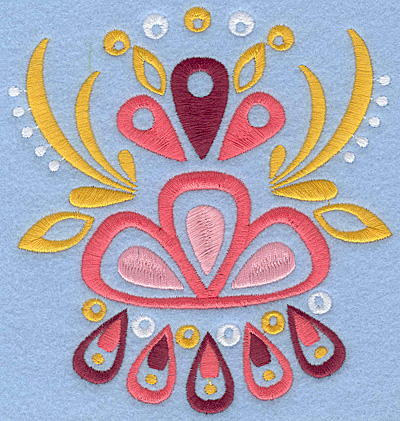 "Embroidery Design: Floral Combo E large 5.00""w X 5.30""h"