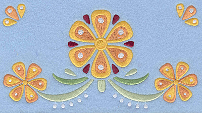 "Embroidery Design: Floral Combo F large 7.00""w X 3.78""h"