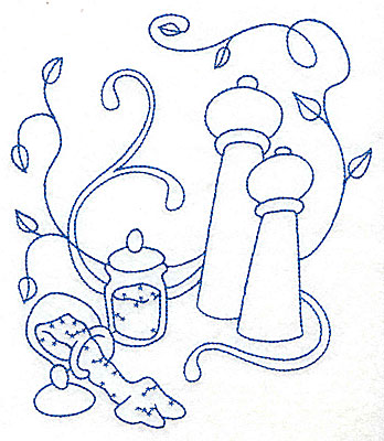 Embroidery Design: Salt and pepper shakers large 6.00w X 6.91h