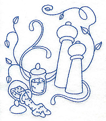 Embroidery Design: Salt and pepper shakers medium 4.27w X 4.92h