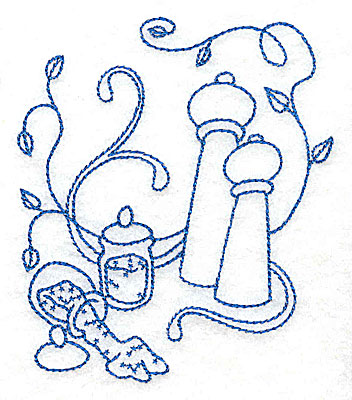 Embroidery Design: Salt and pepper shakers small 3.35w X 3.87h