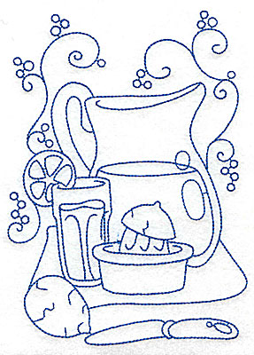 Embroidery Design: Pitcher of lemonade large 4.96w X 6.94h