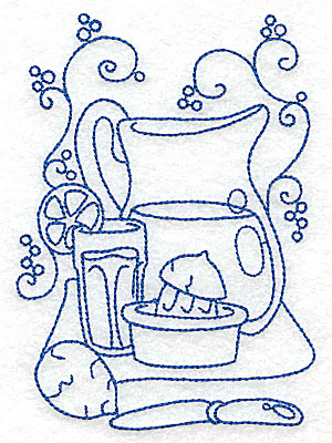 Embroidery Design: Pitcher of lemonade medium 3.54w X 4.96h