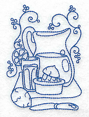 Embroidery Design: Pitcher of lemonade small 2.76w X 3.87h
