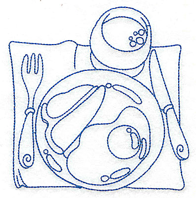 Embroidery Design: Breakfast place setting medium 4.80w X 4.97h