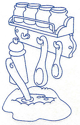 Embroidery Design: Kitchen spice rack large 4.39w X 6.94h