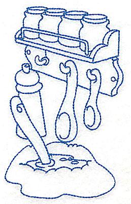 Embroidery Design: Kitchen spice rack medium 3.12w X 4.93h