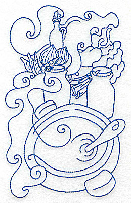 Embroidery Design: Cooking pot large 4.34w X 6.94h