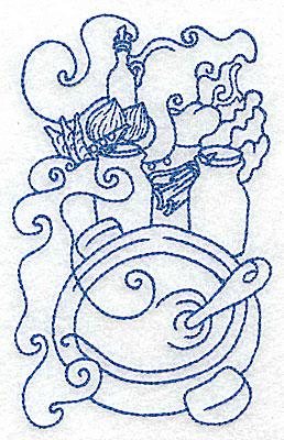 Embroidery Design: Cooking pot medium 3.08w X 4.92h