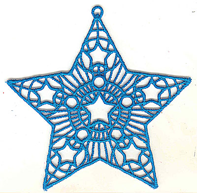 Embroidery Design: Lace Star Ornament 1 large  4.99w X 4.95h