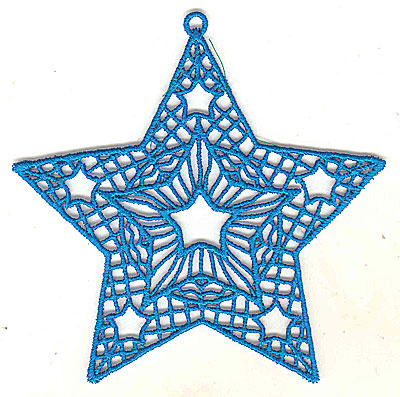 Embroidery Design: Lace Star Ornament 2 large  4.99w X 4.95h