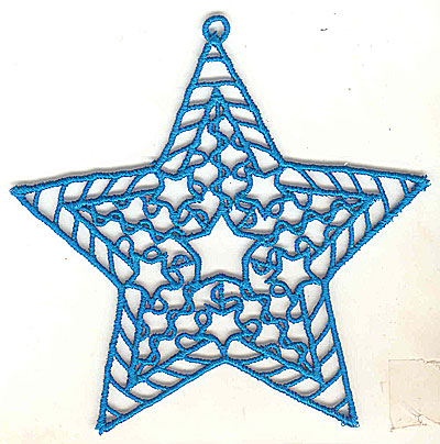 Embroidery Design: Lace Star Ornament 3 large 4.99w X 4.95h
